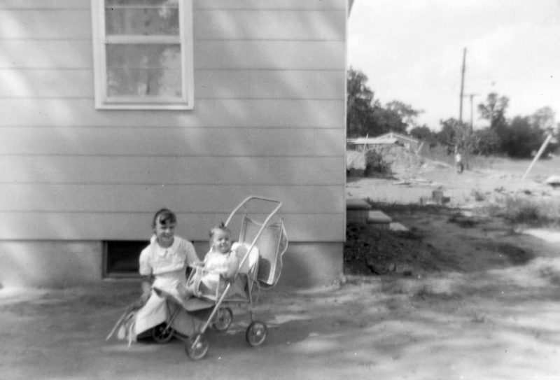 1950's new home in the suburbs