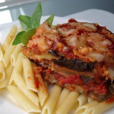Summer Harvest ~ Eggplant Parmesan Light