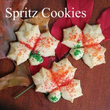 Autumn Leaf Spritz Cookies