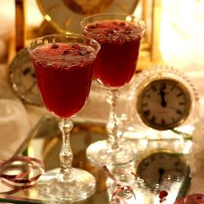 Pomegranate Vinaigrette & Pomegranate Champagne Toast for New Year's Eve
