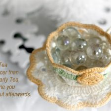 From the Linen Chest ~ Crocheted Teacup & Saucer
