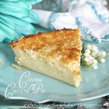 Impossible Coconut Custard Pie