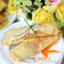 Crepes and Chicken with Rosemary