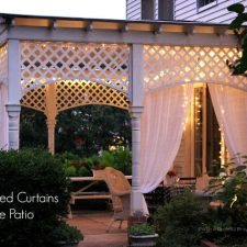 Re-purposed Curtains for the Patio