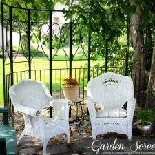 Trash to Treasure ~ A Garden Screen