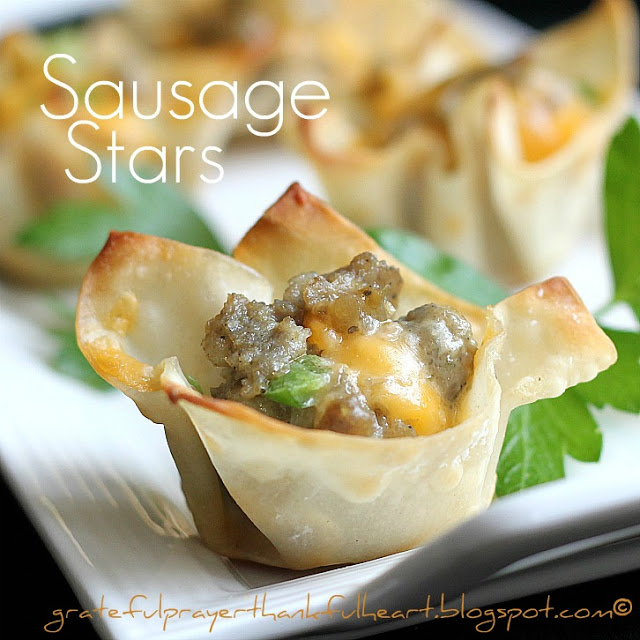 Easy recipe for Hidden Valley Sausage Stars. Popular appetizer for parties, holidays and even Super Bowl festivities.