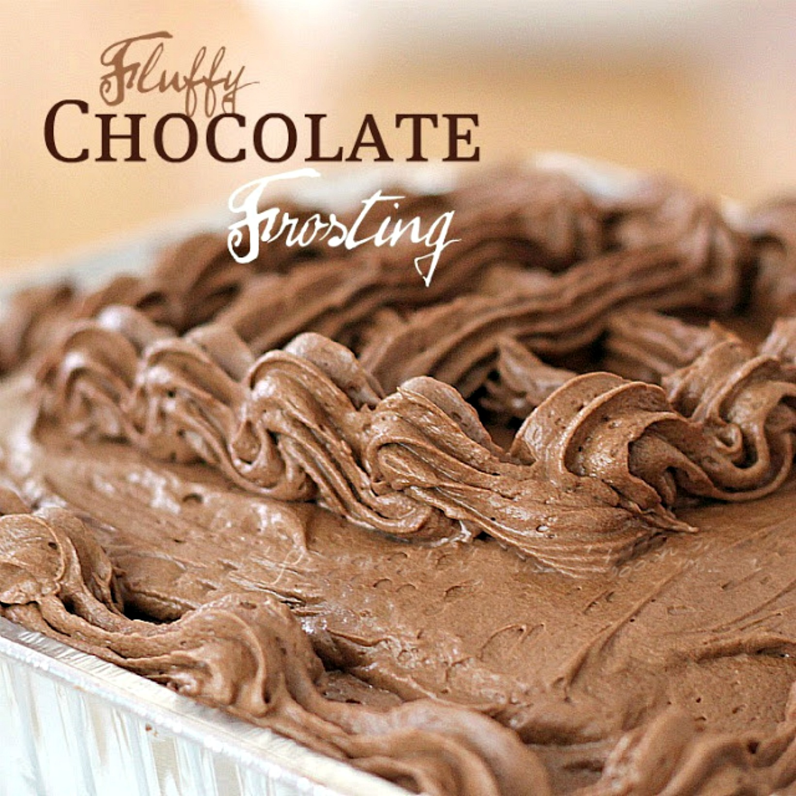 Easy recipe for Fluffy Chocolate frosting for cakes and cupcakes