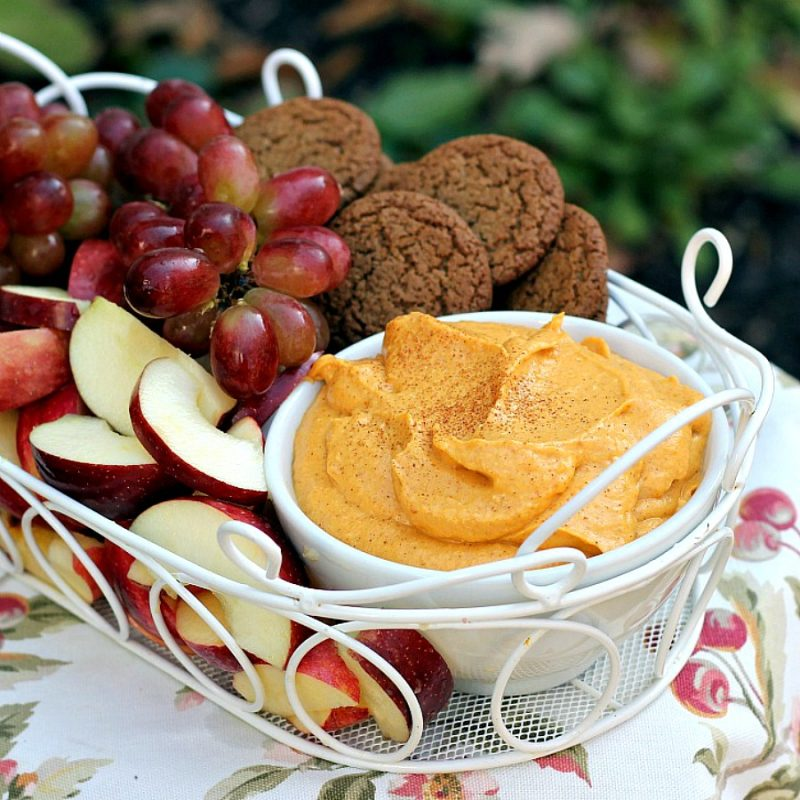 Easy recipe for Sweet Pumpkin Dip. Serve with apple slices, grapes or gingersnap cookies for a delicious taste of autumn.