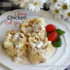 Cheesy Chicken Roll-Ups Birthday Lunch