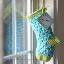 Lined Crochet Stocking for Chloe