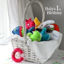 Basket of Felt toys