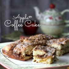 Apple Coffee Cake & Breakfast with Tea on the Porch