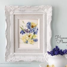 Preserving Spring ~ Hammered Flower Art