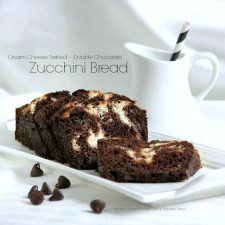Cream Cheese Swirled Double Chocolate Zucchini Bread