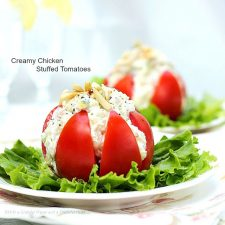 Creamy Chicken Stuffed Tomatoes