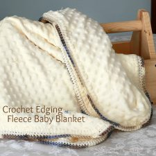 Crochet Edge Baby Blanket