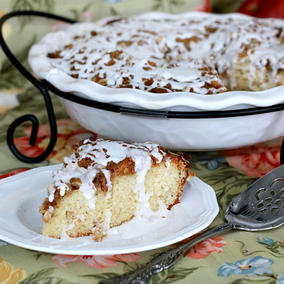 Pecan Heart Coffee Cake