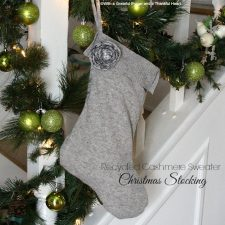 Recycled Cashmere Sweater Christmas Stocking & Gift Bags