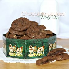 Chocolate Cookies with Minty Chips