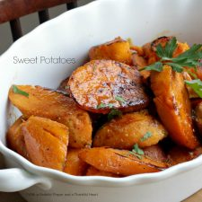 Baked Sweet Potatoes and a Week with the Kids