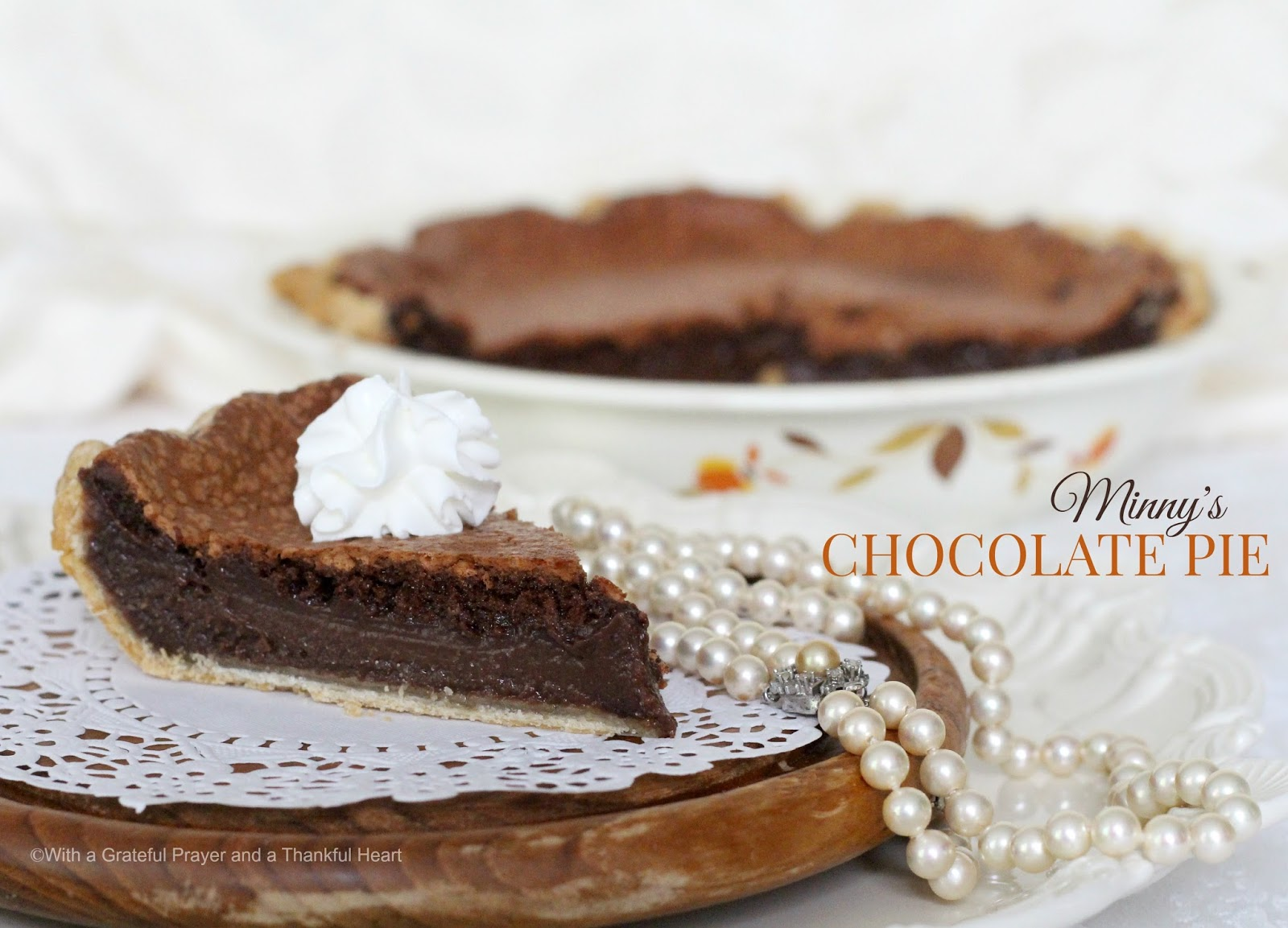 Two Chocolate Pie Recipes from The Help - Grateful Prayer ...