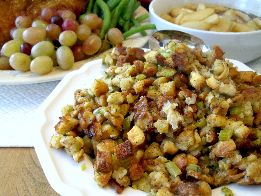 Call it stuffing or filling, this favorite recipe for Old Time Stuffing is full of flavor and a perfect side to compliment your Thanksgiving day turkey dinner.