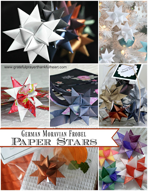 Beautiful folded paper German stars remind many of childhood when they were made at Christmas time. Easy to follow, step by step video tutorial teaches you how to make them.