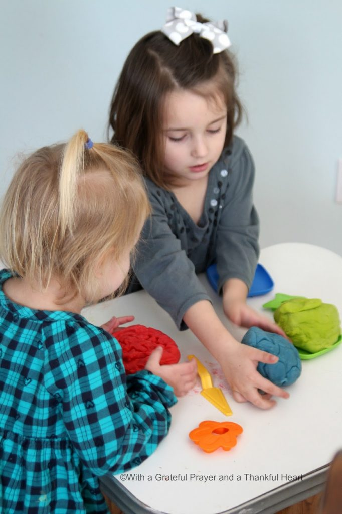 Making playdough with or for your children is fun with this easy recipe. Colorful, soft and just right for non-technical creative play.