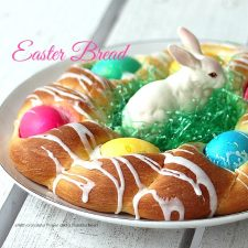 Easter Egg Braided Yeast Bread