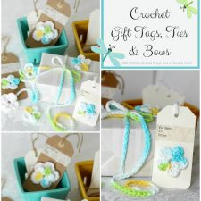 Crochet Gift Tags,Ties & Bows