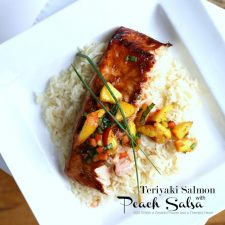 Teriyaki Salmon with Peach Salsa