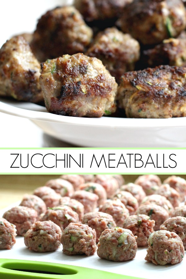 Add more veggies to your family meals. Try this delicious recipe for zucchini meatballs with shredded zucchini. So much flavor in these pan-fried meatballs.