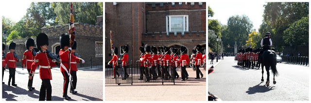 Our last day of London included visiting St Pancras Renaissance Hotel, Kings Cross Station and the changing of the Guard at St James Palace.