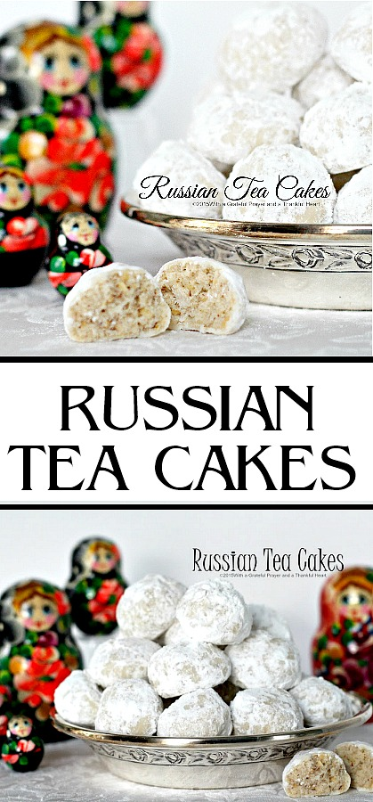 Call them Russian Tea cakes, Mexican Wedding Cookies or Snowballs, these tender little cookies coated in confectioners' sugar are melt in your mouth yummy!