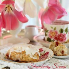 Strawberry Scones using Freeze Dried Fruit