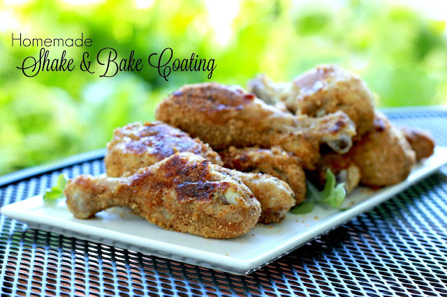 Easy recipe to make your own shake and bake coating for a no-frying delicious, crispy coating for baked poultry and pork right in the oven.