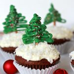 Chocolate Pretzel Christmas Tree Cupcake Toppers