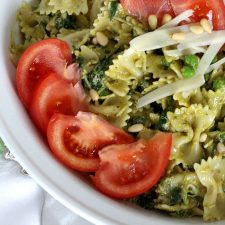 Pasta Pesto and Peas Green Food for St Patrick's Day