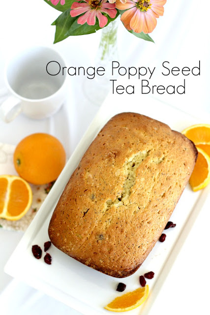 Orange Poppy Seed Tea Bread Recipe