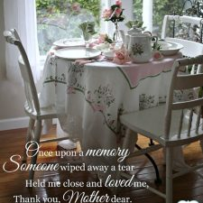 Mother's Day Menu and a Vintage Theme Table as we Remember Mom