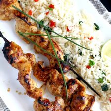 Just 2-Ingredients to make Delicious Grilled Chicken Kabobs