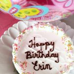 Erin's Birthday with a Homemade Ice Cream Cake