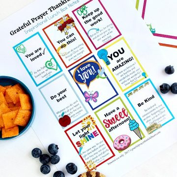 Encouraging Lunch Box Notes & Cards