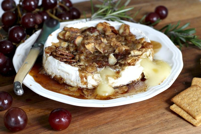 Creamy, buttery Tipsy Brie is the appetizer of choice when our friends get together. Warm and melty with a topping of brown sugar, sliced almonds and a little bourbon. It is easy to make using just four ingredients.