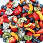Dragon Fruit Salad with Honey Lime Dressing