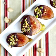 Chocolate Dipped Figs with Pistachio