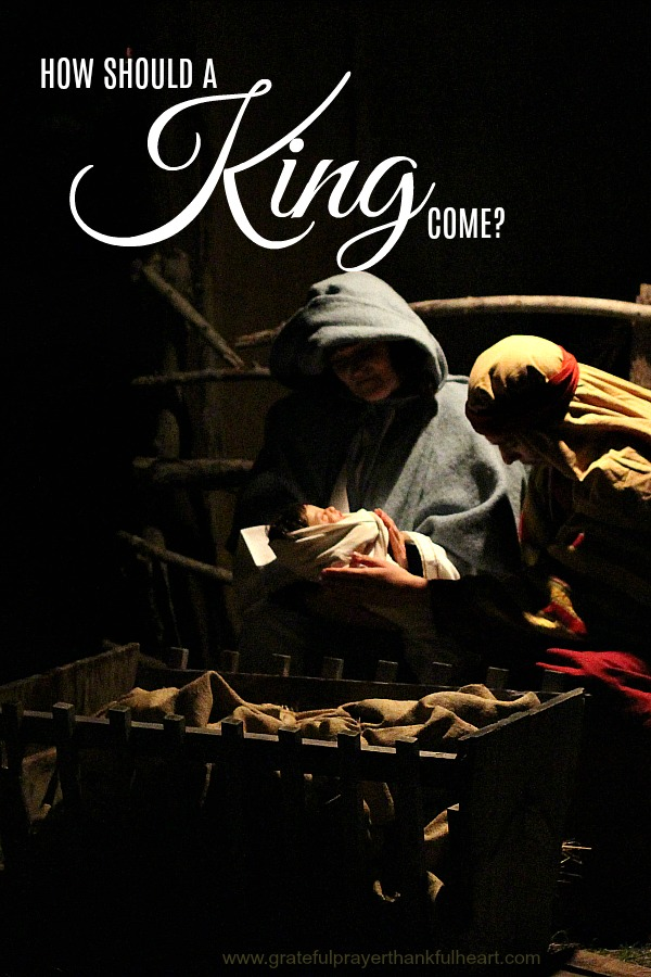 "How should a KING come? Even a child knows the answer of course… And the angels cried ""glory, glory to God"". Beautiful song and words to celebrate the birth of a Savior."