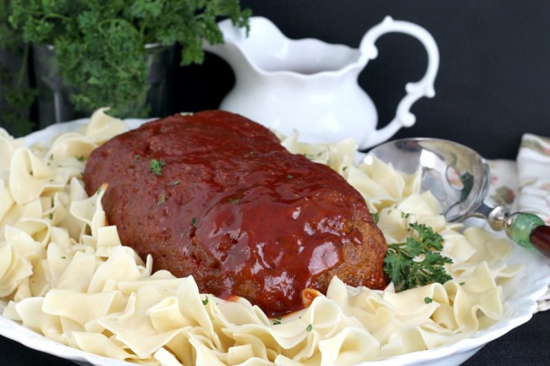 Sweet and Sour Meatloaf is an all-time favorite family comfort food. Easy recipe that is delicious with a tangy, sauce poured on the top and baked until bubbly.