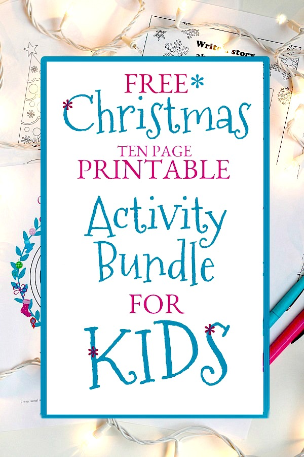 Christmas Printable Activity Bundle for Kids | Grateful Prayer ...