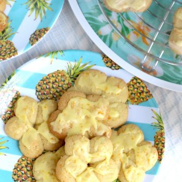 Frosted Orange Crisps Pressed Cookies